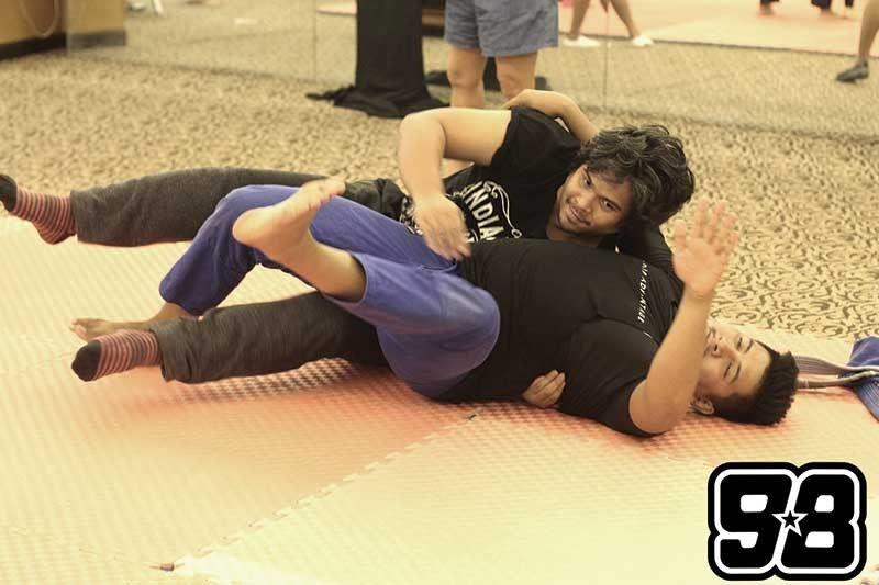 Bernard Salas training with Coach Jojo Padilla