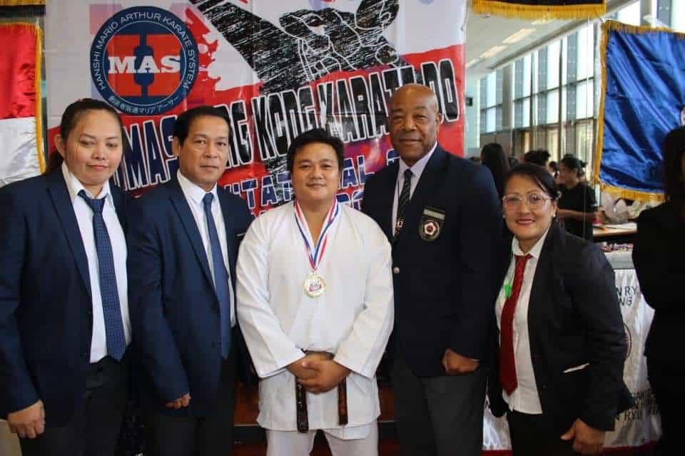 Cagayan de Oro's Michael Abrio Pabillore during his triumphant karatedo campaign in Hong Kong recently. (Contributed photo)
