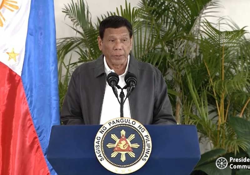 DAVAO. President Rodrigo Duterte holds a news conference upon arrival from Russia on October 6, 2019. (Screenshot from Presidential video)