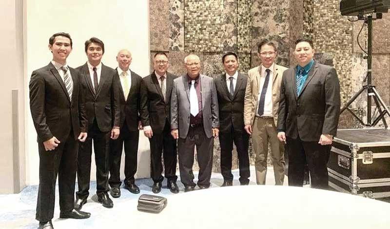 USJ-R RELIGIOUS ADMINISTRATIVE TEAM. From left: Fray Charlemagne D. Marin (OAR seminarian); Fr. Leo G. Alaras, OAR (Vice president - Academics); Fr. Rouel M. Sia, OAR (VP - Administration); Fr. Leopoldo V. Estioko, OAR (VP - Finance); Fr. Hernando D. Coja, OAR (Director - Center for Religious Education); Fr. Cristopher C. Maspara, OAR (President); Fr. Roy B. Baluarte, OAR (VP - Student Welfare); and Fr. Arian Josef M. Ocheda, OAR (VP - Religious Affairs).