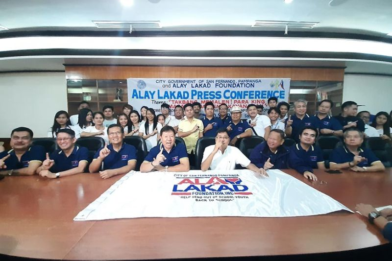 PAMPANGA. Alay Lakad Foundation president Ruben Sy and Mayor Edwin Santiago lead Monday's (October 7, 2019) press conference for this year's Alay Lakad. (Princess Clea Arcellaz)
