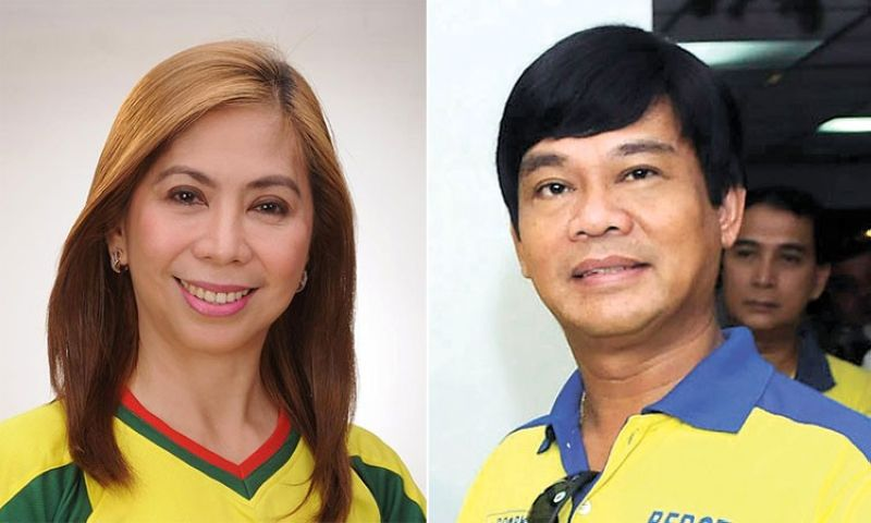 CEBU. Former Cebu City councilor Joy Pesquera (left) and Cebu City South District Representative Rodrigo