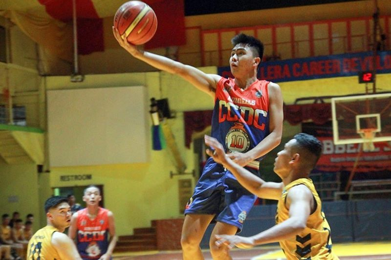 PUMPED UP. Will Keane Lee of the Cordillera Career Development College (CCDC) Admirals shoots for an easy lay-up against the Philippine Military Academy (PMA) Cavaliers on Sunday. The Admirals demolished Cavaliers 79-54. (Jean Nicole Cortes)