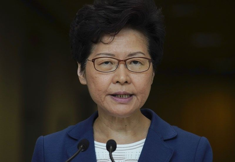 HONG KONG. Hong Kong Chief Executive Carrie Lam speaks during a press conference in Hong Kong, Tuesday, October 8, 2019. (AP)