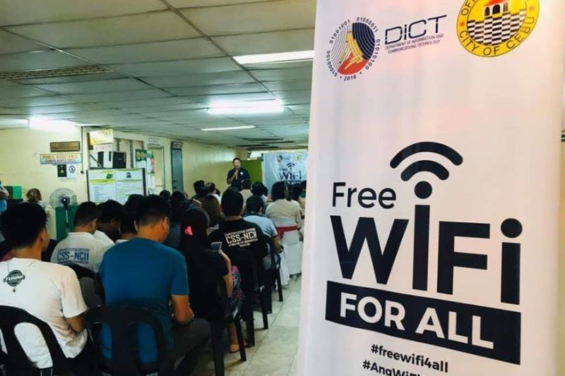 DICT rolls out free Wifi in Ramos public market