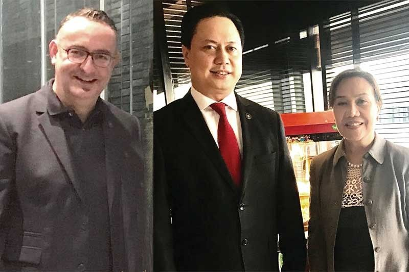THE CONRAD MOVERS. General manager Laurent Boisdron, commercial director Michael Albaña and PR consultant Zeny Iglesias.