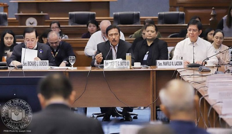 MANILA. Senate hearing on the GCTA controversy. (Photo from Senate of the Philippines Facebook page)