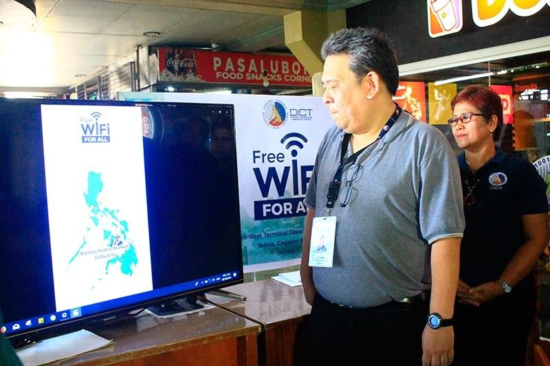 CAGAYAN DE ORO. Department of Information and Communications Technology (DICT) assistant regional director Frederick Amores leads the launching of the Free Wi-Fi for All-Free Public Internet Access Program as part of DICT's nationwide campaign to provide free internet for all, Tuesday, October 8, 2019. (Photo by Jo Ann Sablad)
