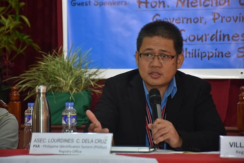 BENGUET. Philippine Statistics Authority (PSA) Deputy National Statistician lawyer Lourdines Dela Cruz at Benguet Capitol during the Benguet National Statistics Month program & forum on the Philippine Identification System (PhilSys). (Redjie Melvic Cawis)