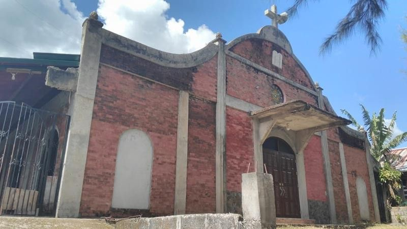 BILIRAN. Facade of the church in Talustosan, Biliran where American priest Fr. Kenneth Bernard Pious Hendricks had served. (Ronald O. Reyes)