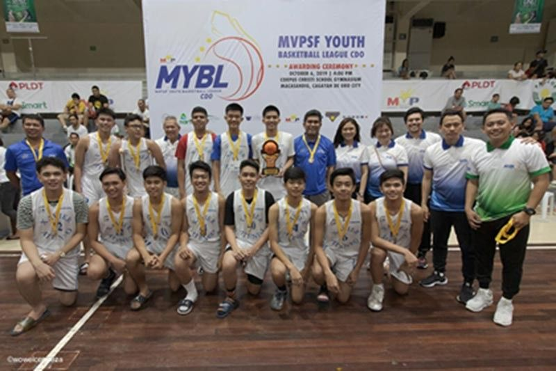 CAGAYAN DE ORO. The Xavier University (XU) Junior Crusaders defeat the Corpus Christi Knights, 81-70 to win the 15-under crown of the first-ever Manny V. Pangilinan Sports Foundation Youth Basketball League last Sunday at the Corpus Christi gym, Cagayan de Oro City. (Wowel Condeza/CIO)