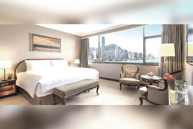 Harbour View room in Marco Polo Hong Kong Hotel.