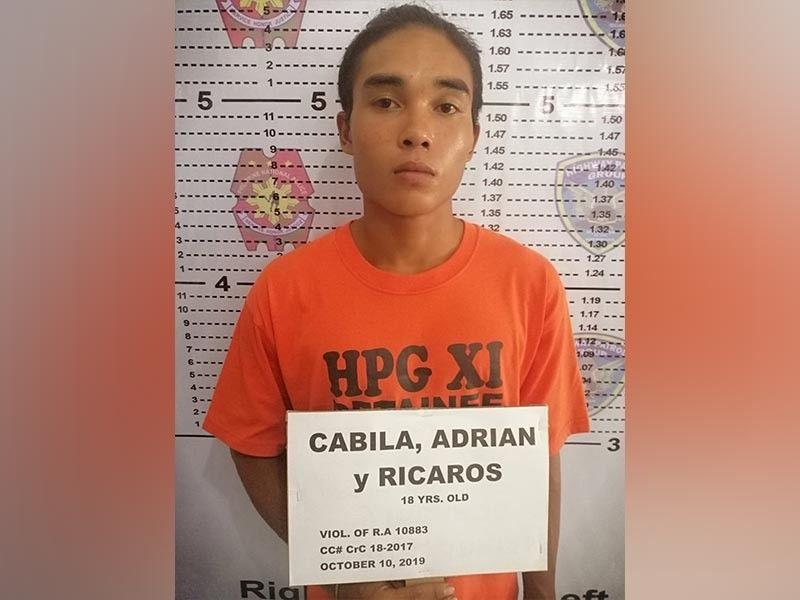 DAVAO. Ang mugshot sa suspek sa pagkasikop kaniya sa Davao Norte Provincial Highway Patrol (DNPHP)