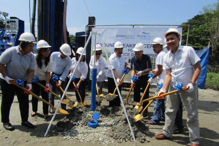 PAMPANGA. PrimeWater Guagua-Guagua Water District (GWD) recently broke ground for the newly-established Source Development at Dalan Bayu, Barangay San Matias, Guagua. (Contributed photo)