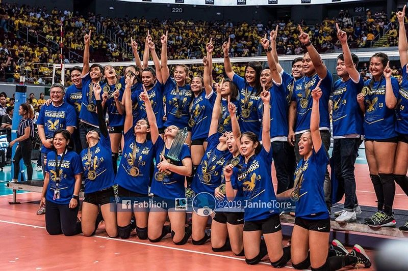 DAVAO. UAAP season 81 women's volleyball champion Ateneo de Manila University Lady Blue Eagles. (Ateneo Lady Eagles Facebook)