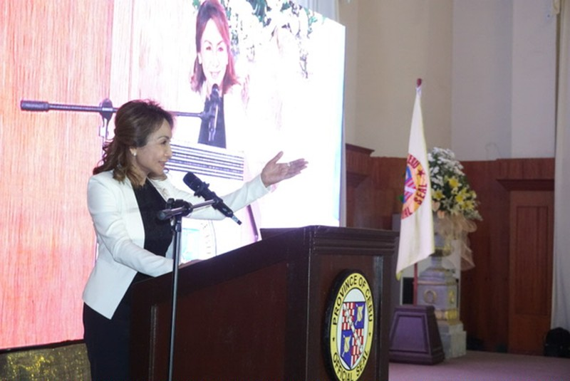 Video Report. Gov. Gwendolyn Garcia delivers her State of the Province Address in a 35-minute video report on Saturday, Oct. 12, 2019, in time for her 64th birthday. (SunStar Photo/Alex Badayos)