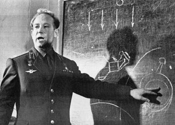 In this March 26, 1965 file photo, Cosmonaut Alexei Leonov, who stepped into space from the Voskod-2 spaceship, speaks in Moscow, Russia. Alexei Leonov, the first human to walk in space, died in Moscow on Friday, Oct. 11, 2019. He was 85. <b>(AP file phot)</b>