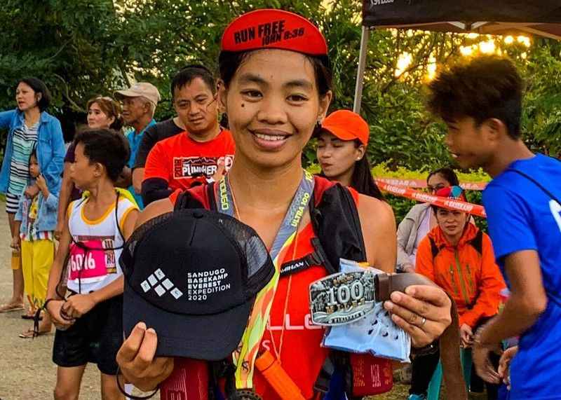 QUEZON. Ifugao pride Maria Cecilia Kiswa after completing the 160-kilometer (100 mile) run in the recently concluded 3rd edition of Sandugo Pacific Coast Ultra 100 held in General Nakar, Quezon. (Photo courtesy of Race Tech FB page)
