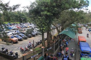 BAGUIO. The city government plans to turn this area near Ganza, which is currently used as a parking facility, into a two-level parking building in order to accommodate the growing number of vehicles in the City. (Photo by Jean Nicole Cortes)