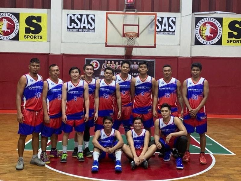 CEBU. Paragsa, seen here celebrating their semifinal win, will be taking on Penthel in the finals of the Duterte Basketball League. (Contributed photo)