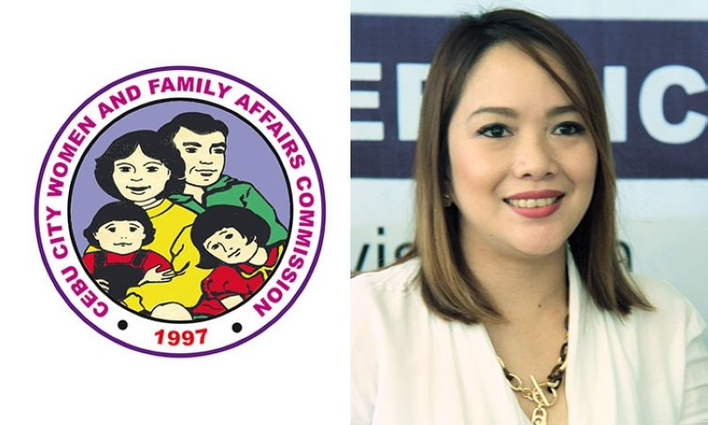 CEBU. Logo of the Cebu City Women's and Family Affairs Commission (left) and Cebu City Councilor Niña Mabatid. (Cebu City Government website/SunStar File)
