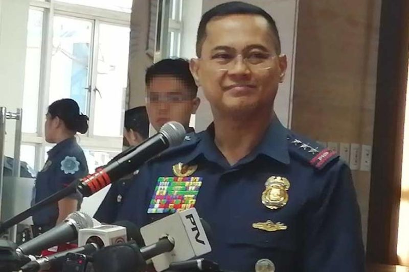 MANILA. Lieutenant General Archie Gamboa, Philippine National Police officer-in-charge, holds a press conference on October 14, 2019, shortly after PNP Chief Oscar Albayalde announced his non-duty status. (Photo by Third Anne Peralta-Malonzo)