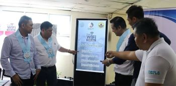 CEBU. DICT Assistant Secretary Felino Castro (2nd from left), Cebu City Councilor Jerry Guardo (left), Councilor Eduardo Rama (3rd from right), Councilor Dondon Hontiveros (2nd from right) and Leo Urbistondo (right, DICT regional director) formally launched the Free Wi-Fi for All at Ramos Public Market, Cebu City Monday, October 14, 2019. (Amper Campaña)