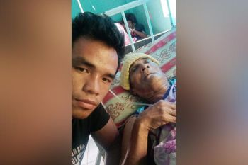 FOR HIS FATHER. Jessie Cris Rosales (left) dedicates his next fight to his ailing father, Narciso Sr. The younger Rosales wants to earn enough money to use for his father's medical treatment. (Contributed photo)