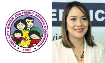 CEBU. Logo of the Cebu City Women's and Family Affairs Commission (left) and Cebu City Councilor Niña Mabatid. (Cebu City Government website/SunStar File)