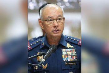 PRESSURE: Taliwa sa grabeng pressure sa paglambigit kaniya sa ninja cops, si PNP Director General Oscar Albayalde sayong mibiya sa pwesto pinaagi sa terminal leave. (SunStar Philippines)