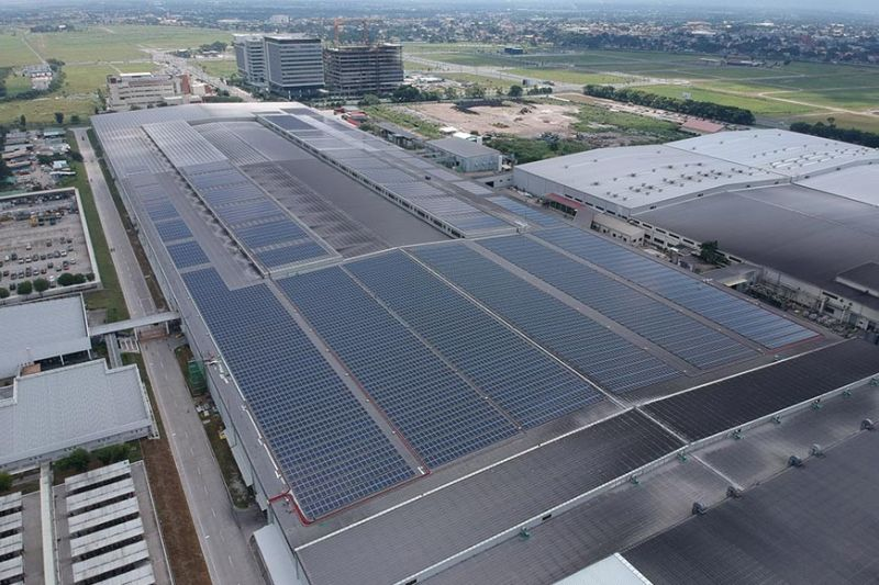 PAMPANGA. YTPI 4-Megawatt Rooftop Solar Plant in Clark Freeport. (Contributed photo)