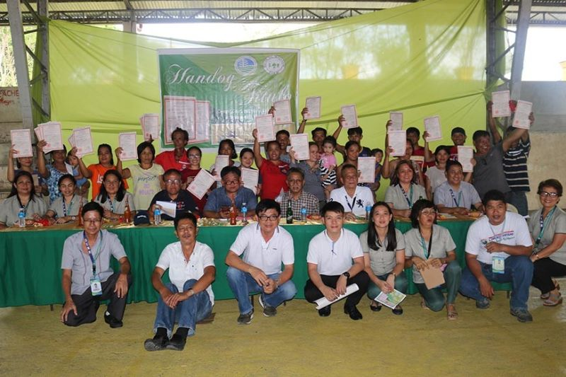 PAMPANGA. The Department of Environment and Natural Resources awarded a total of 44 patents to farmers in barangay Nambalan in Mayantoc town, securing ownership of about 67.7837 hectares of agricultural lands. (Contributed photo)