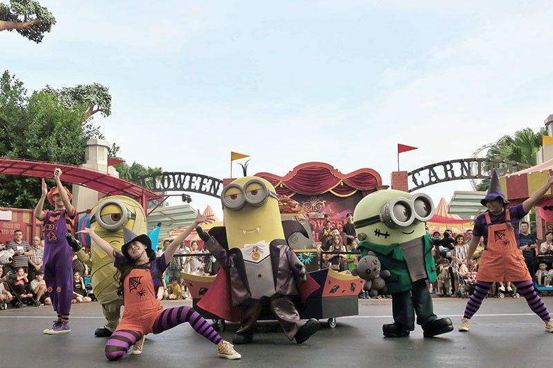 Universal Studios Singapore is offering a limited-time-only Halloween daytime show Minions Monsters Trick or Treats until the end of October. (Photo by Crystal Neri)