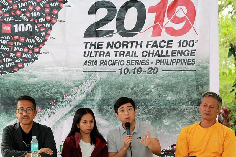BAGUIO. The North Face 100 Ultra Trail Challenge, the most anticipated ultra-marathon in Southeast Asia returns to Baguio after two years of absence. Now on its 6th staging, the TNF 100 promises challenging yet fun race to promote sports tourism in Baguio and Itogon Benguet. Here, (from left to right) City Administrator, Engineer Bonifacio Dela Peña, TNF brand executives Kristel and Renz Angelo Que, and route designer Cez Zulueta address questions during a press conference at the Camp John Hay. (Photo by Jean Nicole Cortes)