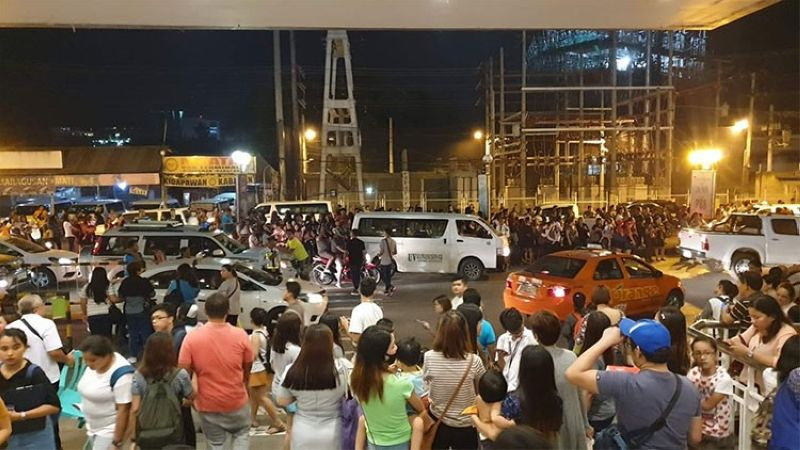 DAVAO. Situation at GMall of Davao along JP Laurel Ave. following the earthquake that was felt in the city around 7:30 p.m. Wednesday, October 16, 2019. (Photo by Reinhart Belviz via SunStar Davao)