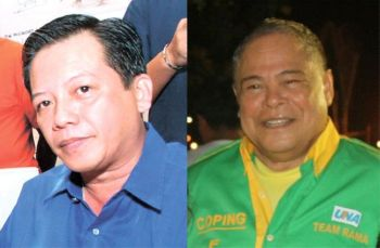 CEBU. Metropolitan Cebu Water District directors Augusto Pe Jr. (left) and Procopio Fernandez. (SunStar File/Fernandez's Facebook account)