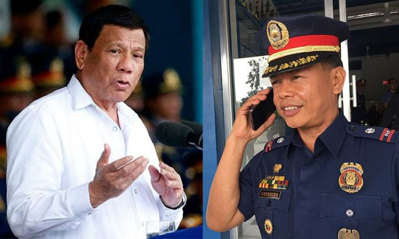 MANILA. President Rodrigo Duterte and Police Major Jovie Espenido. (SunStar File)