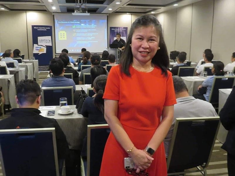 HELPING SMES GROW. MARIBETH BABA, managing director of APPTech, stresses the need for small and medium businesses to invest in technology to remain relevant. (Sunstar Photo /Allan Cuizon )