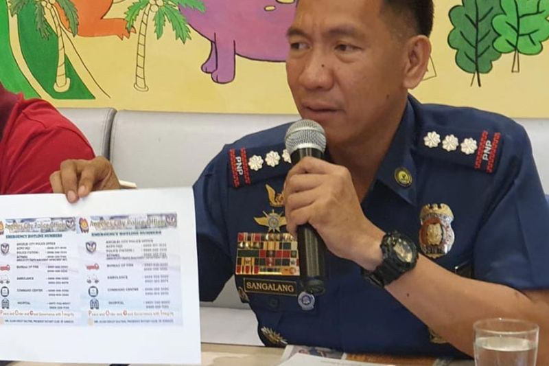 PAMPANGA. Police Colonel Joyce Patrick Sangalang, OIC of the Angeles City Police Office briefs members of the Pampanga Press Club on the security measures and traffic scheme to be implemented by the police during the two-day Tigtigan Terakan king Dalan (TTKD 2019) in Balibago on October 25 and 26. Taken during Tuesday's PPC News at Hues, Park Inn Hotel, SM City Clark. (Chris Navarro)