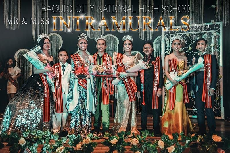 BAGUIO. The winners are Mr. BCNHS Intramurals 2019 Mehdi Teleghani Asl also Best in Sports Wear, Mr. Photogenic, Darling of the Crowd and Face of the Day and Miss BCNHS Intramurals 2019 Kyrene Schian Yv Amazan also Best in Casual, Sports and Formal Wear, Ms. Photogenic, Darling of the Crowd, Queen of the Ramp and Best in Production Number; 1st RU Nash Albert Cereno also Best in Formal Wear and Joshmine Anicette Rabilas also Miss Wit; 2nd RU Jhusper Labnas also Best in Casual Wear and King of the Ramp and Geraldine Gonzales also Best in Talent; 3rd RU Zachary Luma-ang also Mr. Wit, Mr. Congeniality, Mr. Winsome Smile and Best in Production Number and Leissa Alvien Acejo also Face of the Day. (Contributed photo)