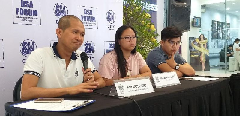 DAVAO. Convenor Noli Ayo, left, says during Thursday's Davao Sportswriters Association (DSA) Forum at The Annex of SM City Davao that the upcoming 5th Mindanao Peace Games in Zamboanga City is the biggest edition so far. (Marianne L. Saberon-Abalayan)