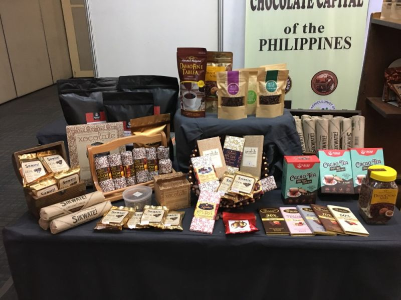 DAVAO. Chocolate products from local brands are displayed on the booth Davao City's chocolate consolidator, Cacao City during the Kakao Konek from October 17 to 18 in SMX Convention Center, SM Lanang Premier. (Contributed photo)