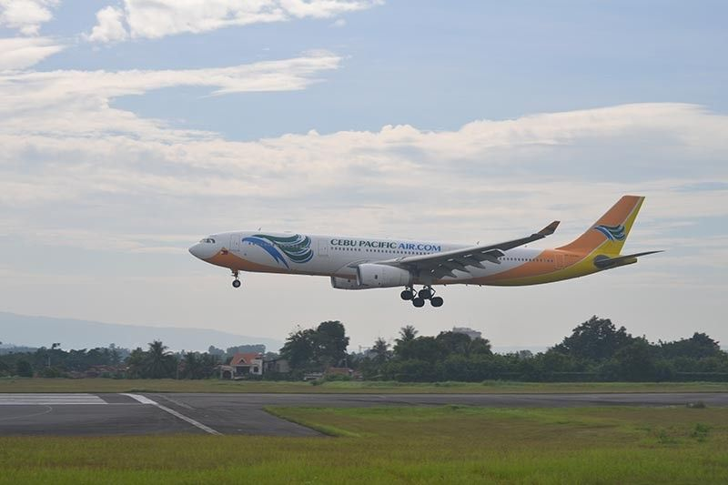 Cebu Pacific's A330, in an old livery, landing at Francisco Bangoy International Airport. (Photo by Reuel John F. Lumawag)