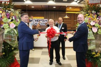 CLARK FREEPORT. Wyndham Vacation Clubs executives led the opening of the new Wyndham Destinations corporate center in Clark Freeport on Friday, October 18. (Contributed photo)
