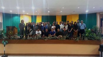 LITERARY CONGREGATION. More than 70 delegates and coordinators converge at the Central Bicol State University of Agriculture in Pili town, Camarines Sur on Oct. 7-8, 2019 for the 11th Taboan National Writers Festival. (CONTRIBUTED FOTO)
