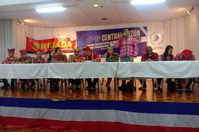 PAMPANGA. Eleven Mindanao Indigenous People youth leaders debunked Friday, October 18, 2019, the alleged support of the Communist Party of the Philippines-New People's Army to their tribes. (William L. Beltran/PIA-Central Luzon)