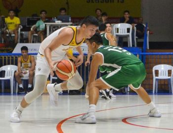 Magic Marata of the University of San Carlos (USC) Warriors seen here trying to get past the defense of University of the Visayas (UV) Lancers, will be looking to sustain his fine play, this time against the University of San Jose-Recoletos (USJ-R) Jaguars.(Contributed foto/ Ron Tolin)