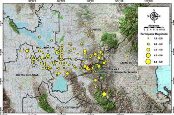 DAVAO. According to Phivolcs Earthquake Bulletins, four magnitude 5 earthquakes, 12 magnitude 4 earthquakes, and 69 magnitude 3 earthquakes were recorded. (Image from Phivolcs website)