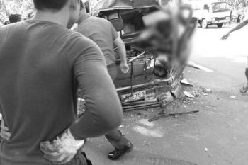 DAVAO. Fatal accident involving multiple vehicles, including a multicab, in Maco, Compostela Valley on Monday morning, October 21, 2019. (Photo by Public Information Page Davao City)