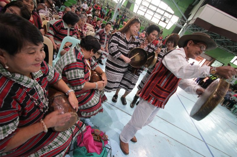 BAGUIO. An Ibaloi senior citizen association in La Trinidad joins the annual celebration of the Indigenous Peoples month, performing the Adivay at the La Trinidad municipal gymnasium Monday afternoon, October 21, 2019. (JJ Landingin)
